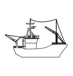 fishing boat isolated vector image