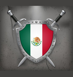 Flag of Mexico Medieval Background vector