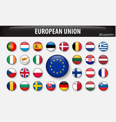 flags european union and members vector image