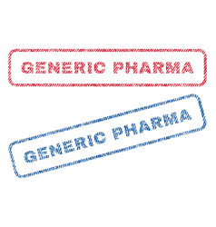 Generic pharma textile stamps vector