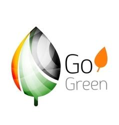 Geometric abstract leaf logo vector