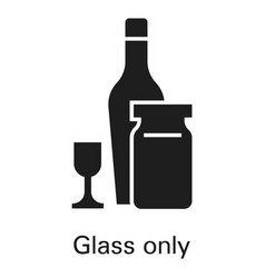 glass only icon simple style vector image