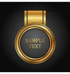 gold label on black vector image