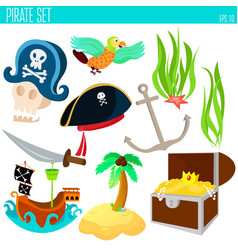 Golden age pirate adventures toy vector