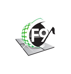 golf letter f 9 vector image