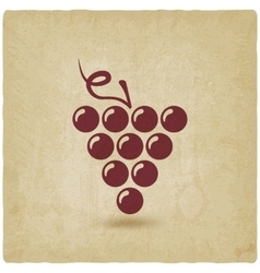 Grapes old background vector