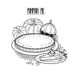Graphic pumpkin pie vector image