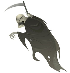 Grim reaper with scythe vector