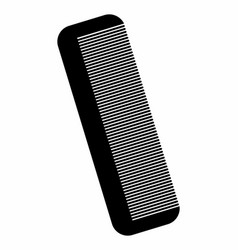 hair comb dark silhouette vector image