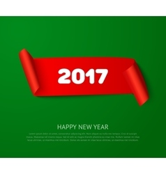 happy new 2017 year paper roll banner vector image