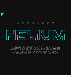 Helium minimalist futuristic linear vector
