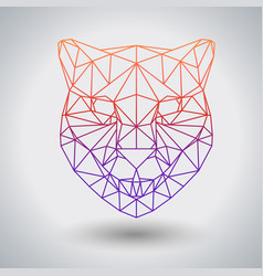 Hipster polygonal animal cheetah triangle animal vector