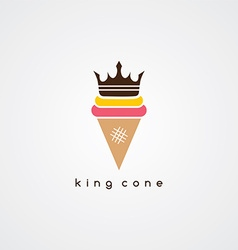 Ice cream cone logotype vector