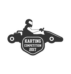 Karting club or kart races championship sportcar vector