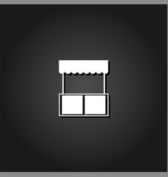 kiosk icon flat vector image