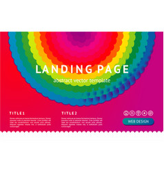 Landing page with abstract geometric element web vector