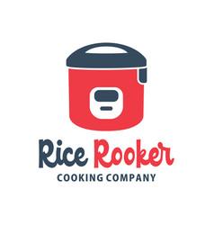 Logo design rice cooker vector