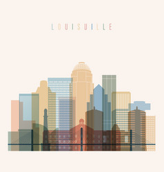 Louisville state kentucky skyline vector
