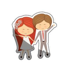 Lovely couple cartoon vector