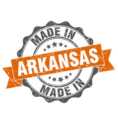 Made in arkansas round seal vector