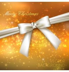 Merry Christmas shiny golden holiday background vector image