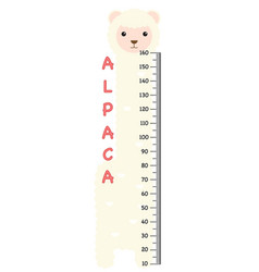 meter wall with alpaca vector image