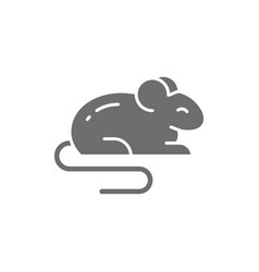 Mouse rat hamster rodent pet animal grey icon vector