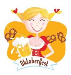 Octoberfest Bavarian girl vector