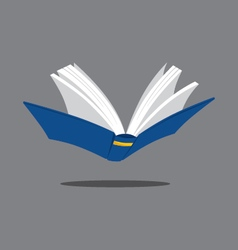 Open Book Dark Blue vector image