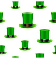 Patrick hat background vector image