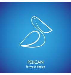 Pelican icon vector image