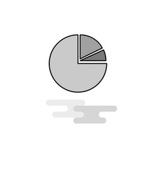 pie chart web icon flat line filled gray icon vector image