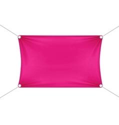 Pink Blank Empty Horizontal Rectangular Banner vector image