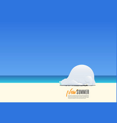 polar bear wearing mask on new summer vacation vector image