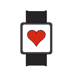 portable heart rate monitor icon image vector image