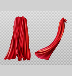 Red cloaks set silk flattering capes design vector