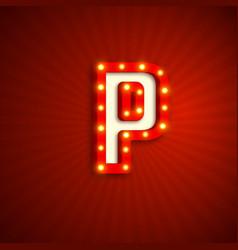 Retro style letter p vector
