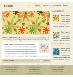 retro website template vector image