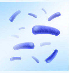 Rod-shaped bacilli bacteria vector