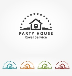 Royal Party House vector image