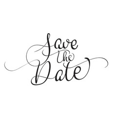 save the date text isolated on white background vector image