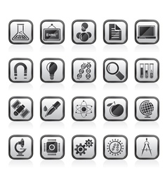 Science Research and Education Icons vector