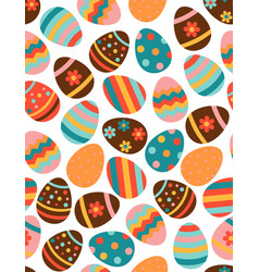 seamless pattern with multicolored easter eggs on vector image