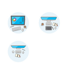 Set of multicolor design icons vector