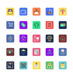 Shopping and eCommerce Colored Icons 1 vector
