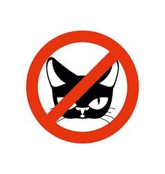Stop cat Pet forbidden Frozen silhouette cat head vector image