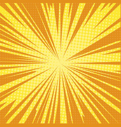 sun rays pop art retro background vector image