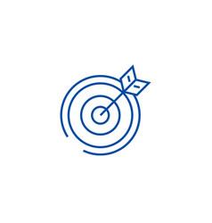 target arrow line icon concept target arrow vector image