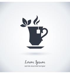 Tea cup logo vector