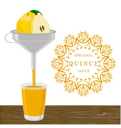 The theme quince vector